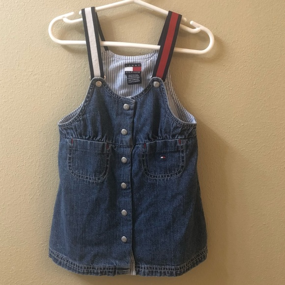 187e75bd Tommy Hilfiger Bottoms | Vintage Baby Girls Denim Overalls | Poshmark